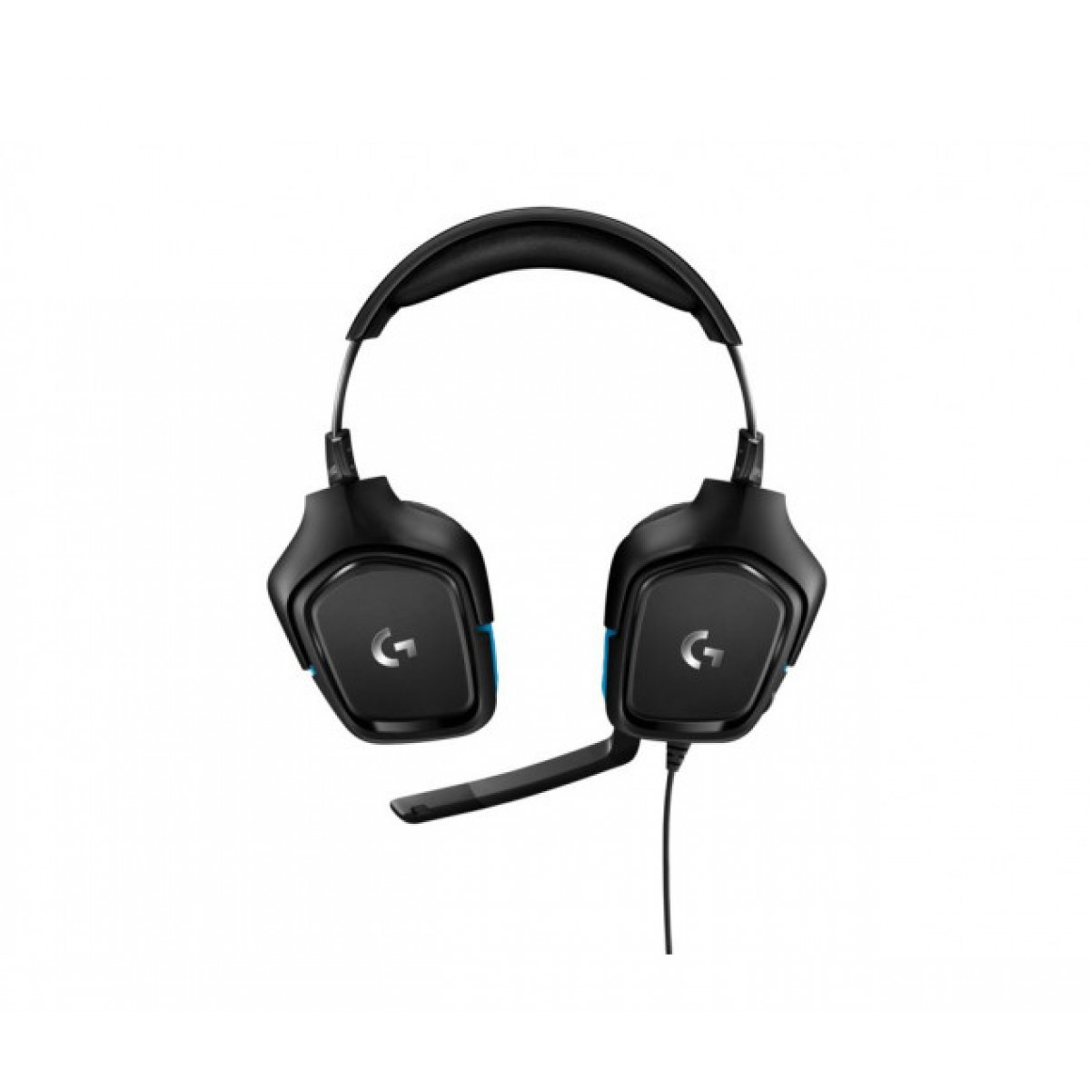 Headset Gamer Logitech G432, 7.1 Surround, Black/Blue, 981-000769