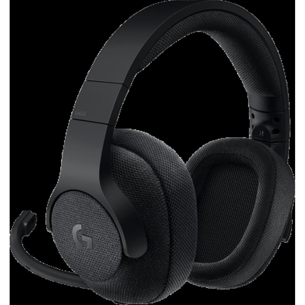 Headset Gamer Logitech G433 7.1 Surround Preto