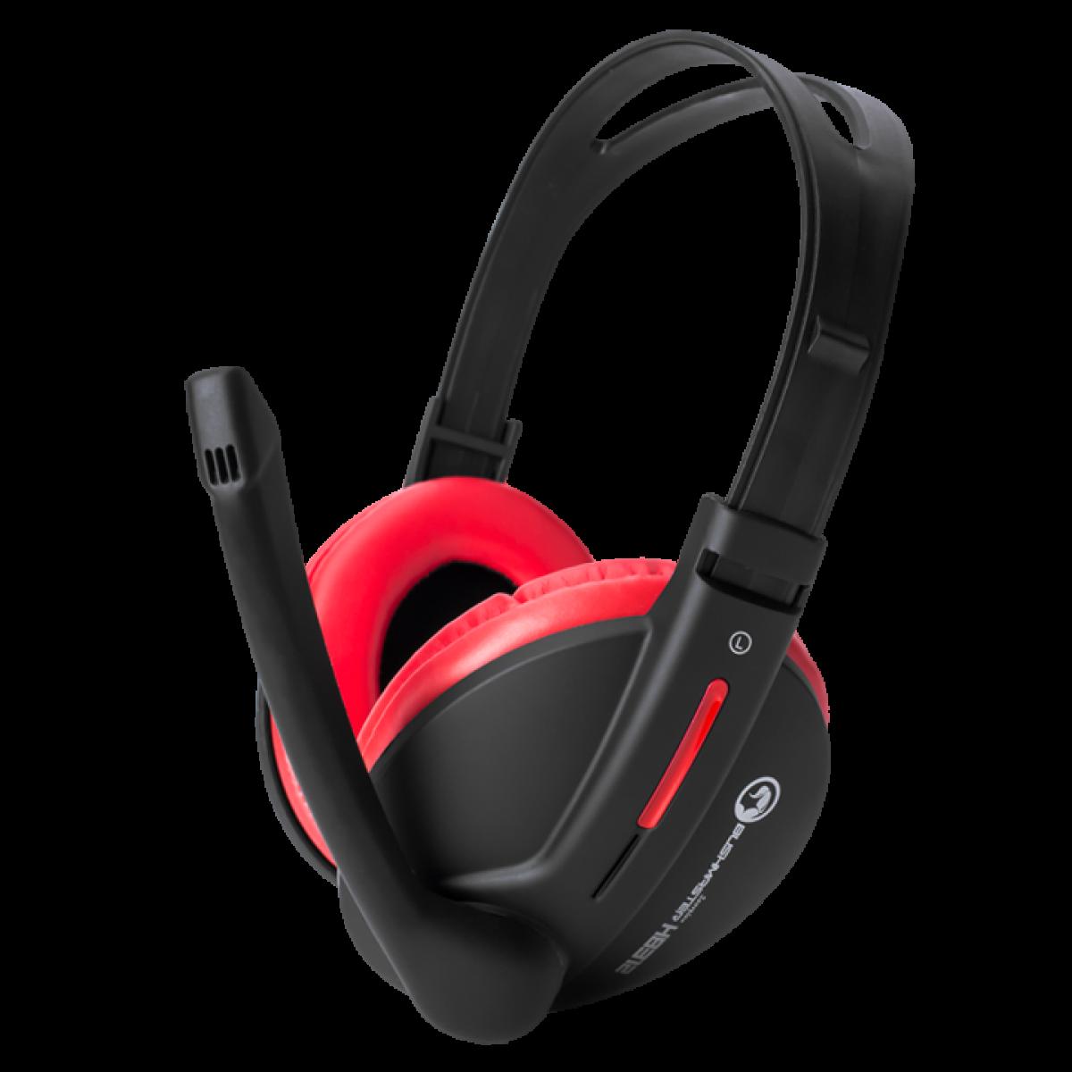 Headset Gamer Marvo Scorpion H8312 Preto/Vermelho