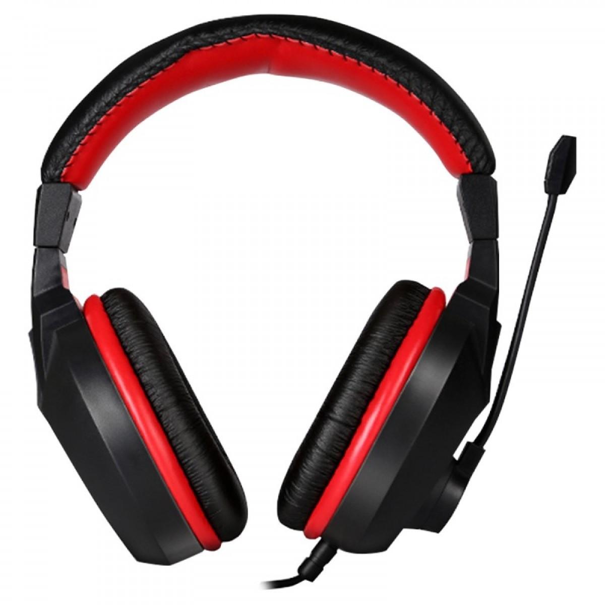 Headset Gamer Marvo Scorpion H8321 Preto/Vermelho