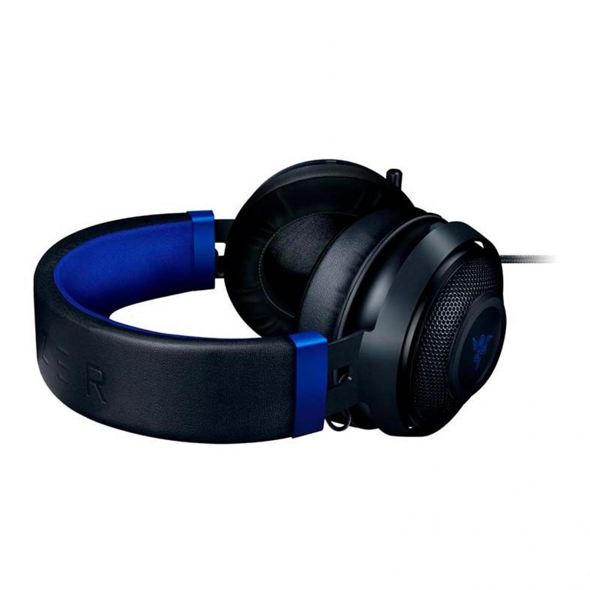 Headset Gamer Razer Kraken, Console, P2, Black/Blue, RZ04-02830500-R3U1