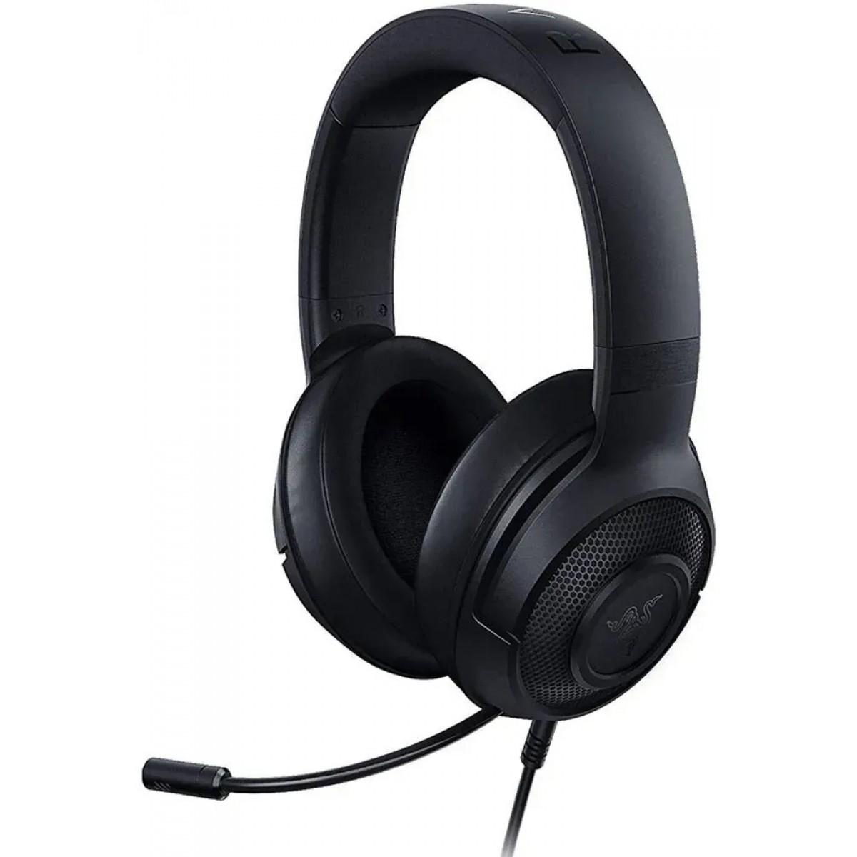 Headset Gamer Razer Kraken X, 7.1 Surround, Black, RZ.AU.KR.06.RT