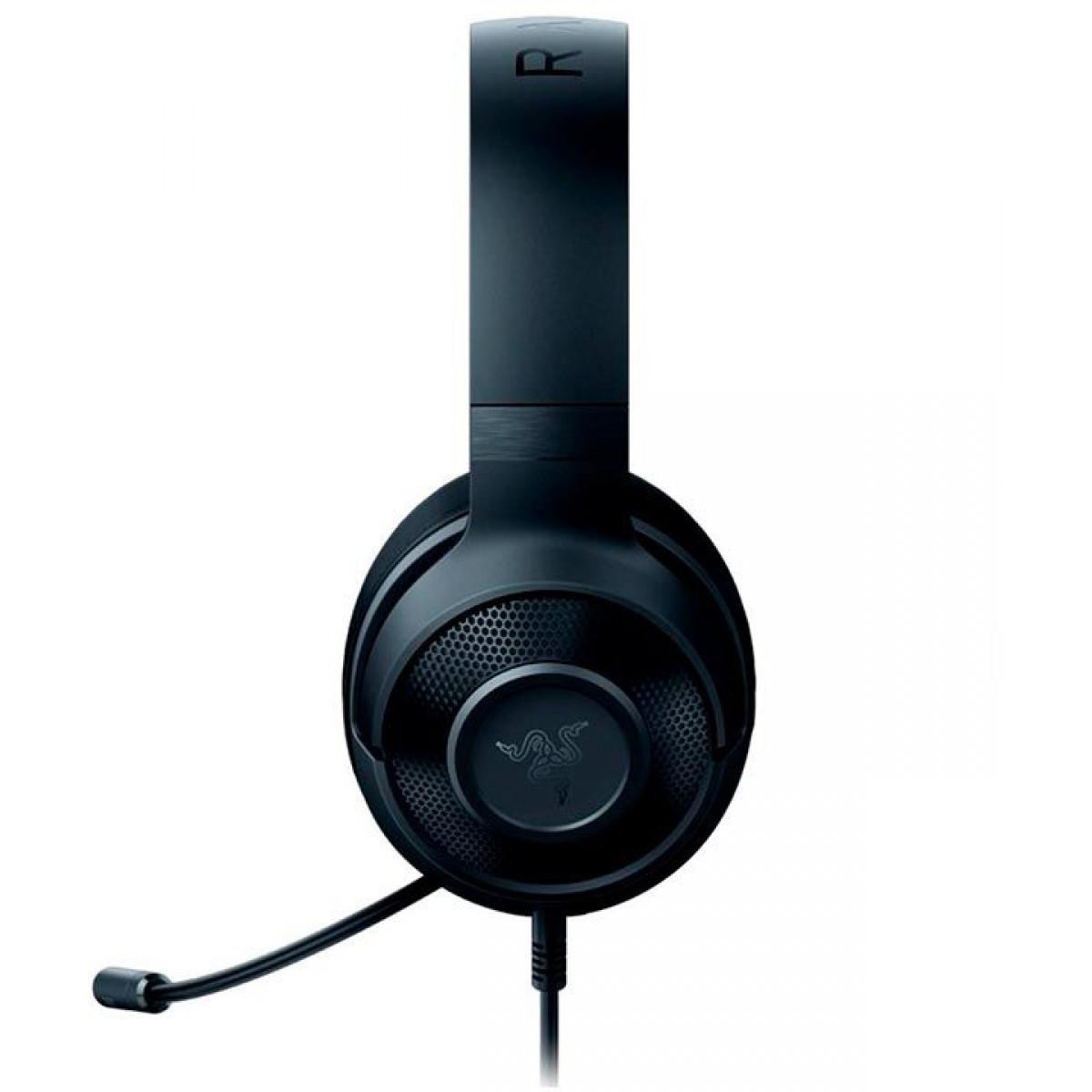 Headset Gamer Razer Kraken X Lite Essential, Audio 7.1, Black