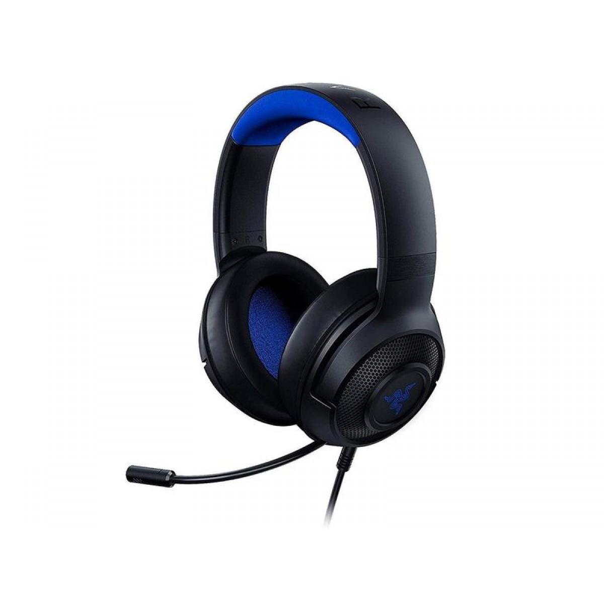 Headset Gamer Razer Kraken X, Ps4/Xbox One/Switch/Pc, Preto/Azul - RZ.AU.KR.07.RT
