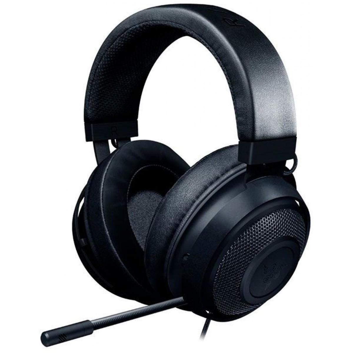 Headset Gamer Razer Kraken, Xbox One, PS4, Switch, PC, Black
