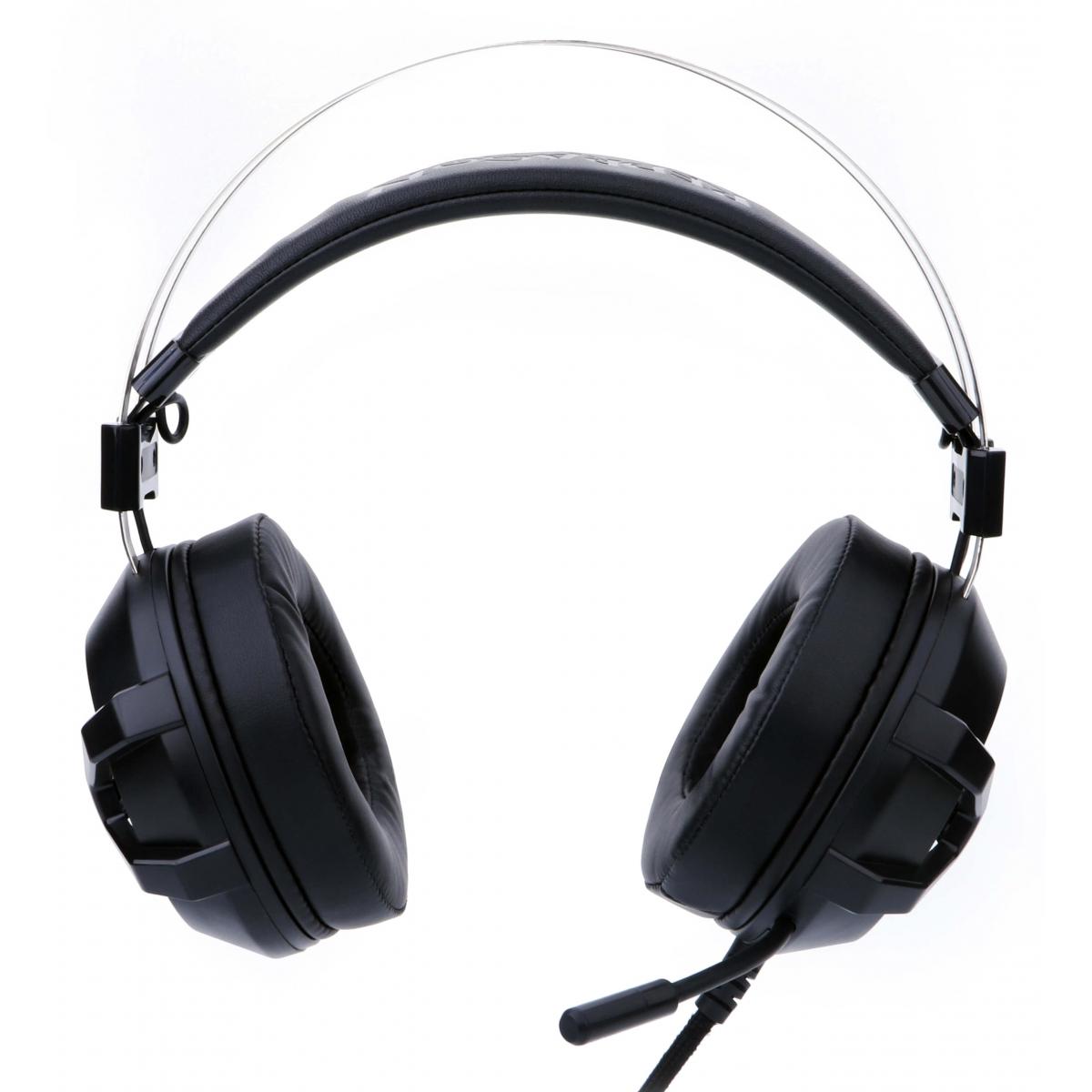 Headset Gamer Redragon Bio H801 USB Preto LED Vermelho