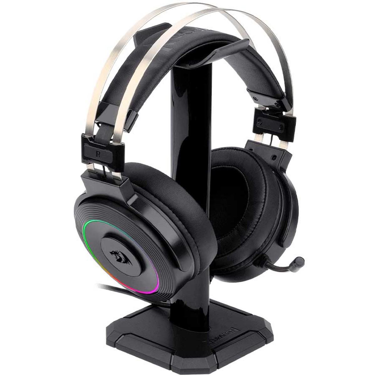 Headset Gamer Redragon Lamia 2 H320 RGB, Drivers 40mm, Surround 7.1, Preto