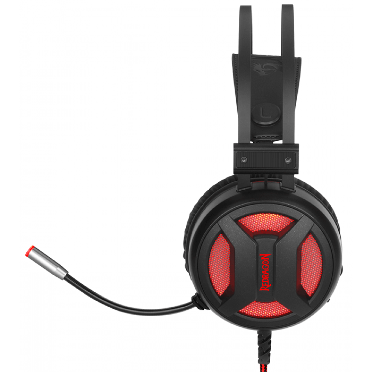 Headset Gamer Redragon Minos H210 Sorround 7.1 USB Preto/Vermelho