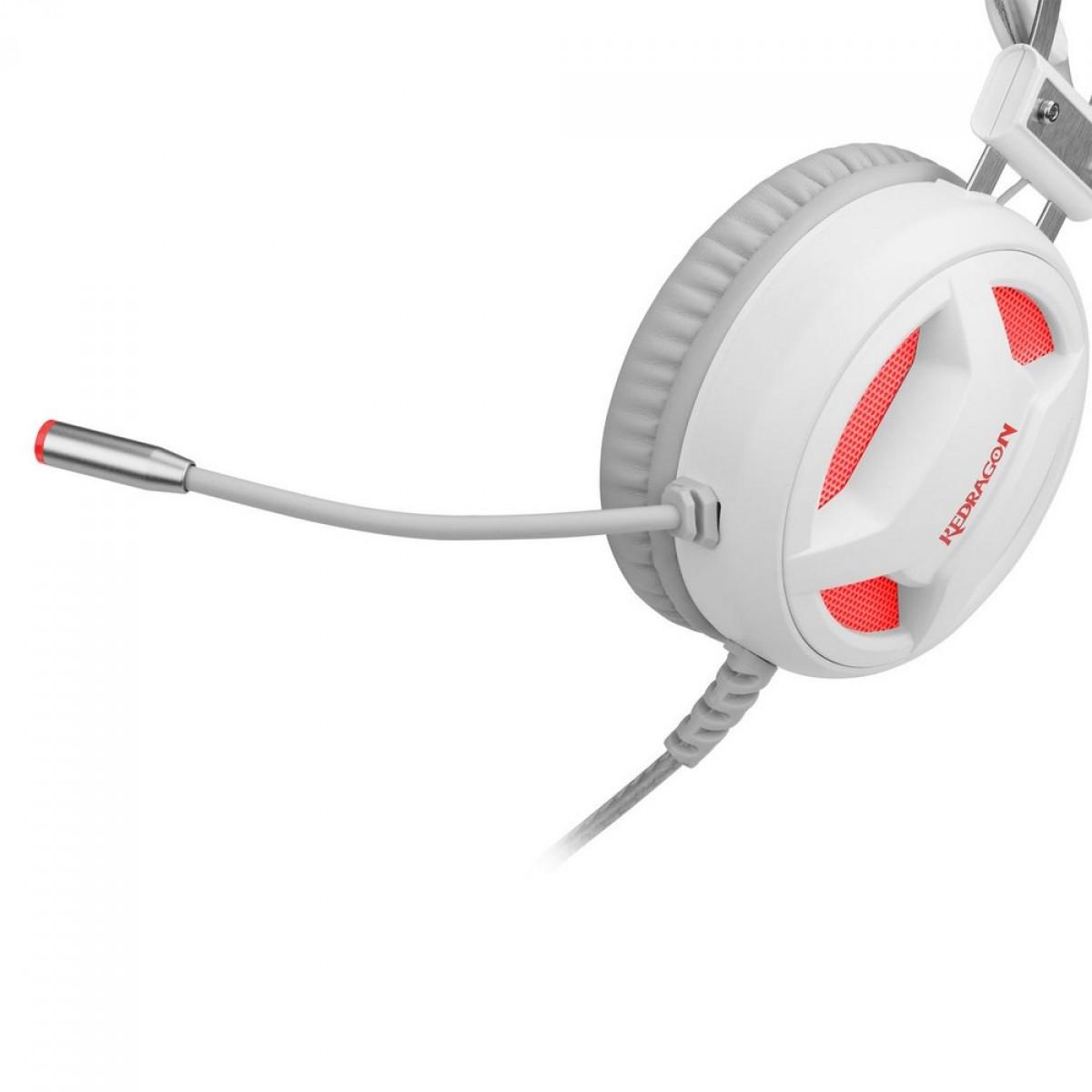 Headset Gamer Redragon Minos H210W, Surround 7.1, White, USB, H210W