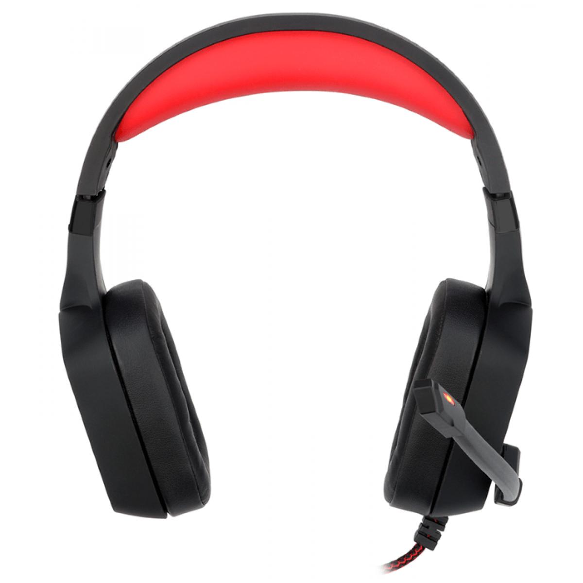 Headset Gamer Redragon Muses H310 Sorround 7.1 USB Preto/Vermelho - Open Box