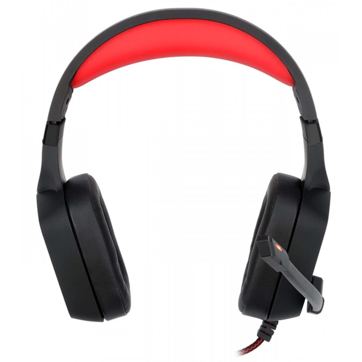 Headset Gamer Redragon Muses H310 Surround 7.1 USB Preto/Vermelho