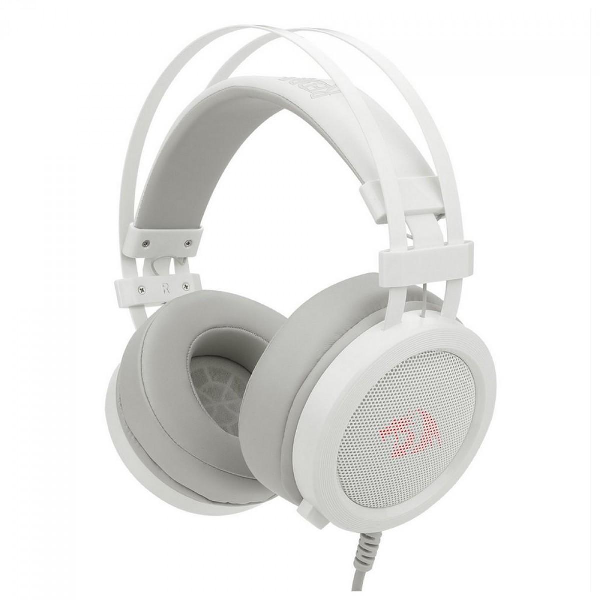 Headset Gamer Redragon Scylla Lunar White, P2, Múltiplas Plataformas, H901W