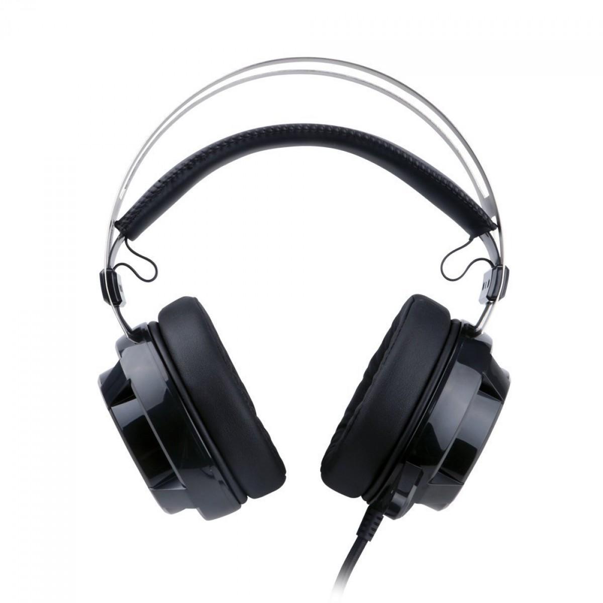 Headset Gamer Redragon Siren 2, USB, 7.1 Surround, Black, H301USB-1