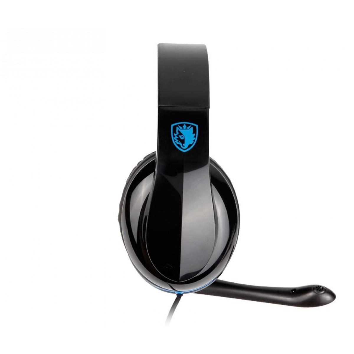 Headset Gamer Sades Sa-701 Tpower, Stereo, Black/Blue, SA-701