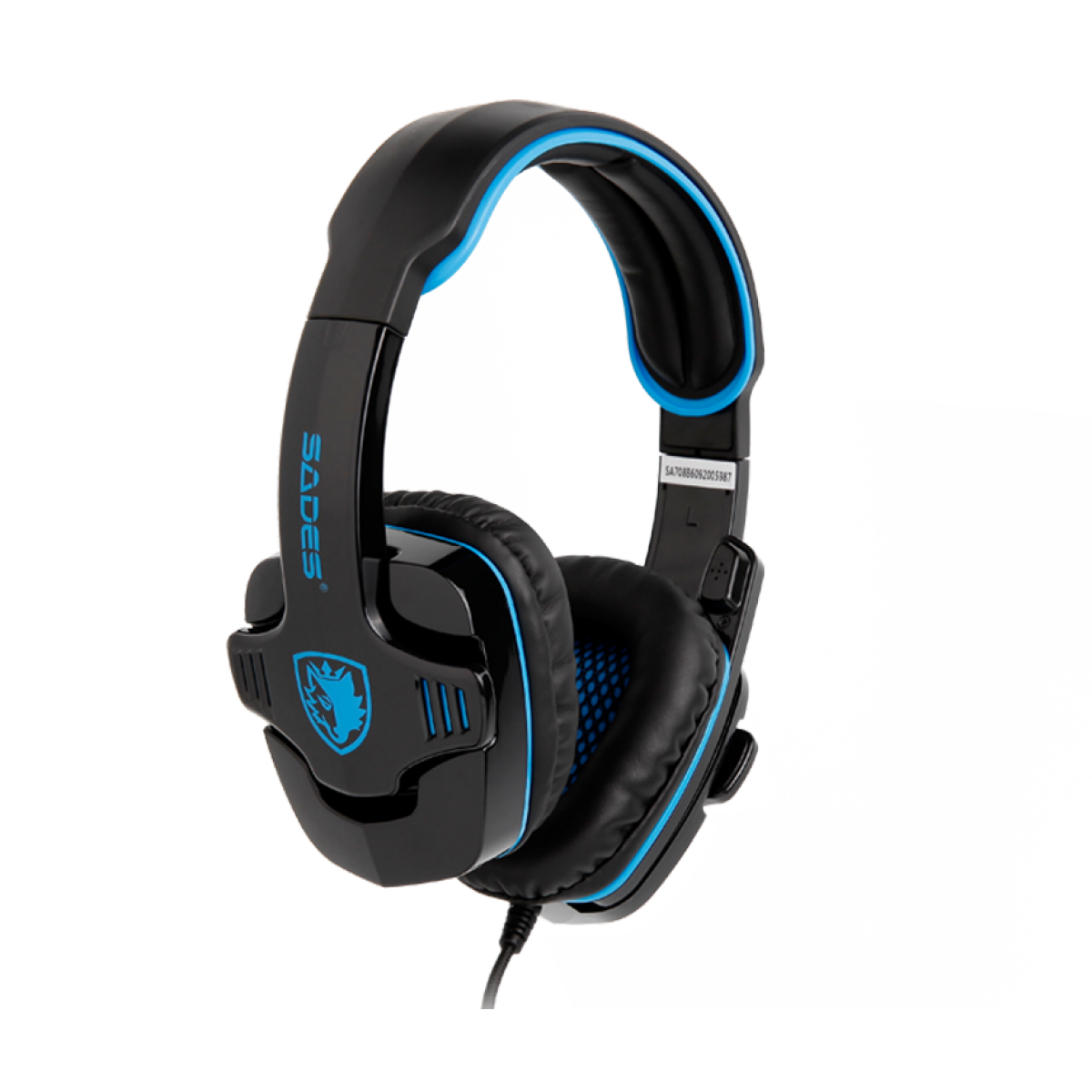 Headset Gamer Sades Sa-708 Gpower, Stereo, Black/Blue, SA-708