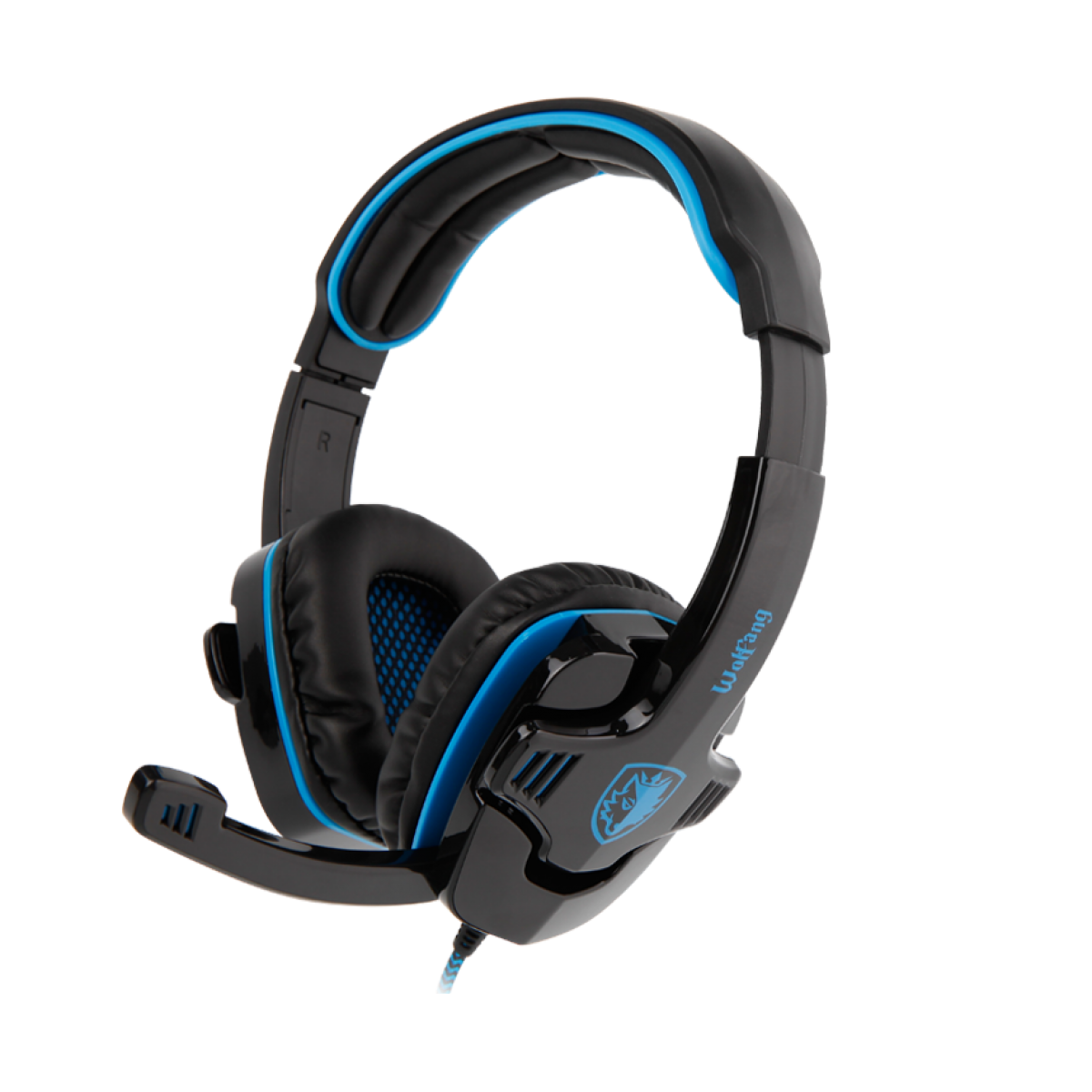 Headset Gamer Sades Sa-901 Wolfang, Stereo, Black/Blue, SA-901