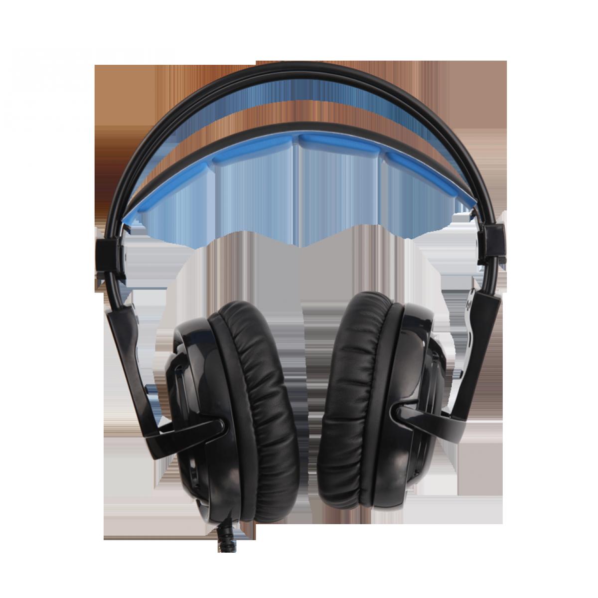Headset Gamer Sades Sa-904 Locust Plus, RGB, 7.1 Surround, Black/Blue, Sa-904