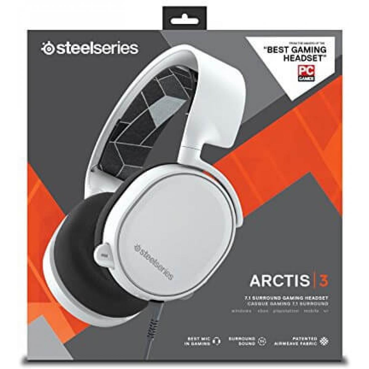Headset Gamer Steelseries Arctis 3 7.1 Surround Branco 61434