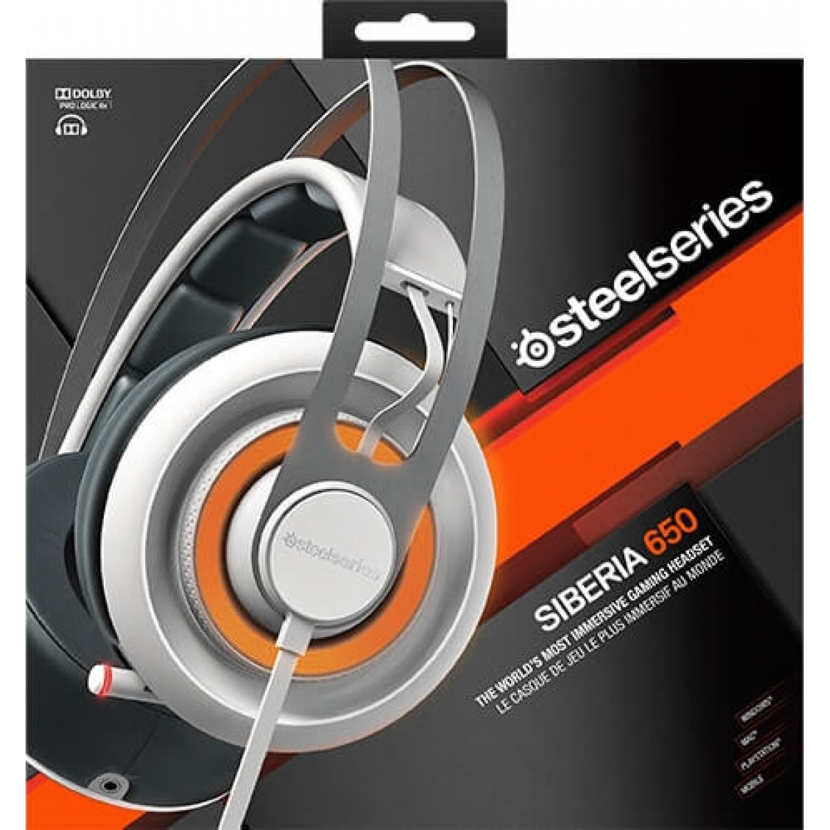 Headset Gamer Steelseries Siberia 650 RGB Dolby 7.1 Branco 51192