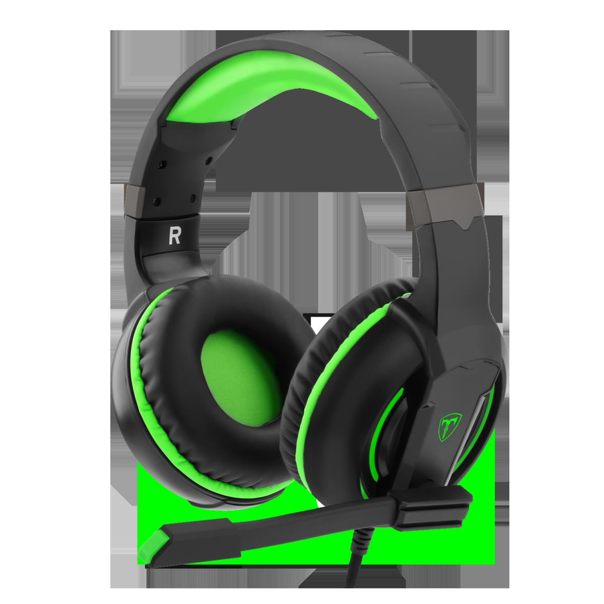 Headset Gamer T-Dagger Caucasus, Black e Green, T-RGH207