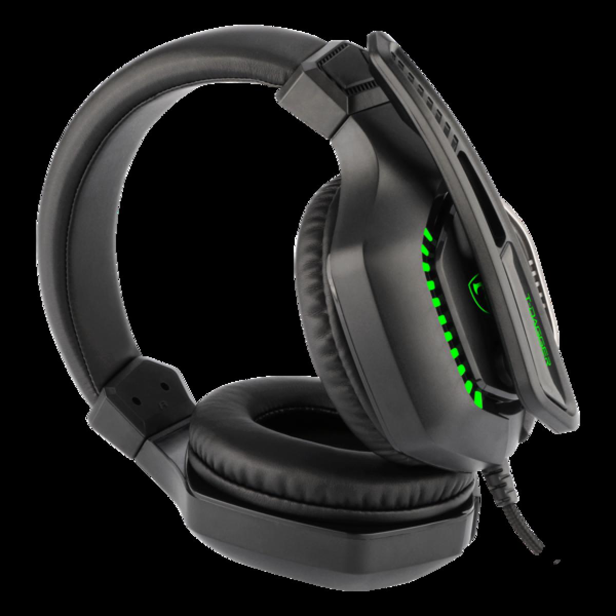 Headset Gamer T-Dagger Eiger, 3.5mm + USB, Green, T-RGH208
