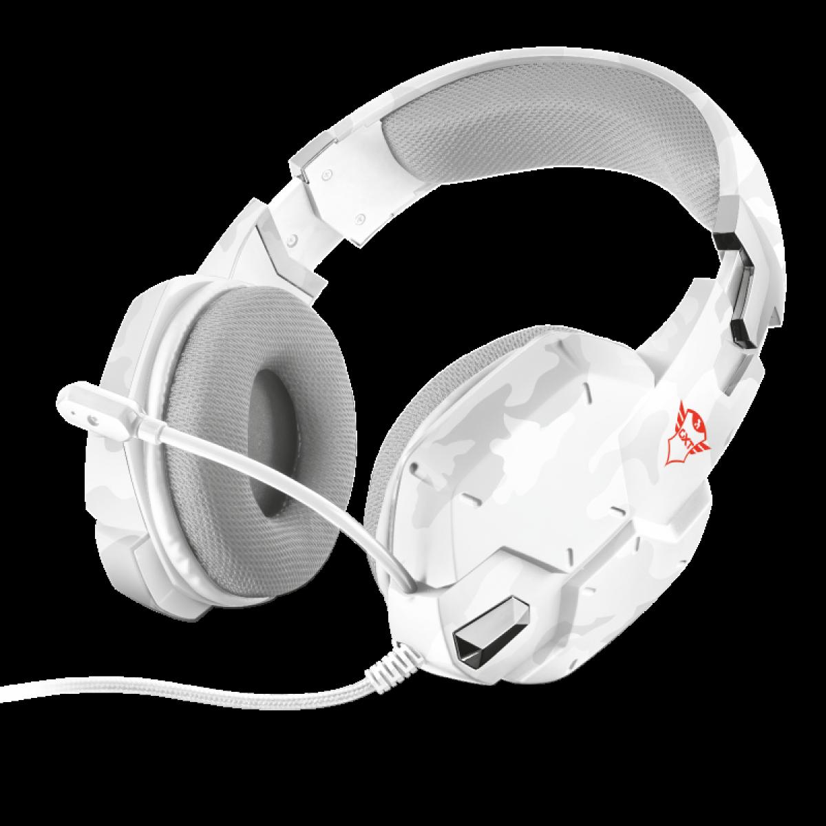Headset GamerTrust CARUS- Multiplataforma GXT 322W CAMUFLADO SNOW