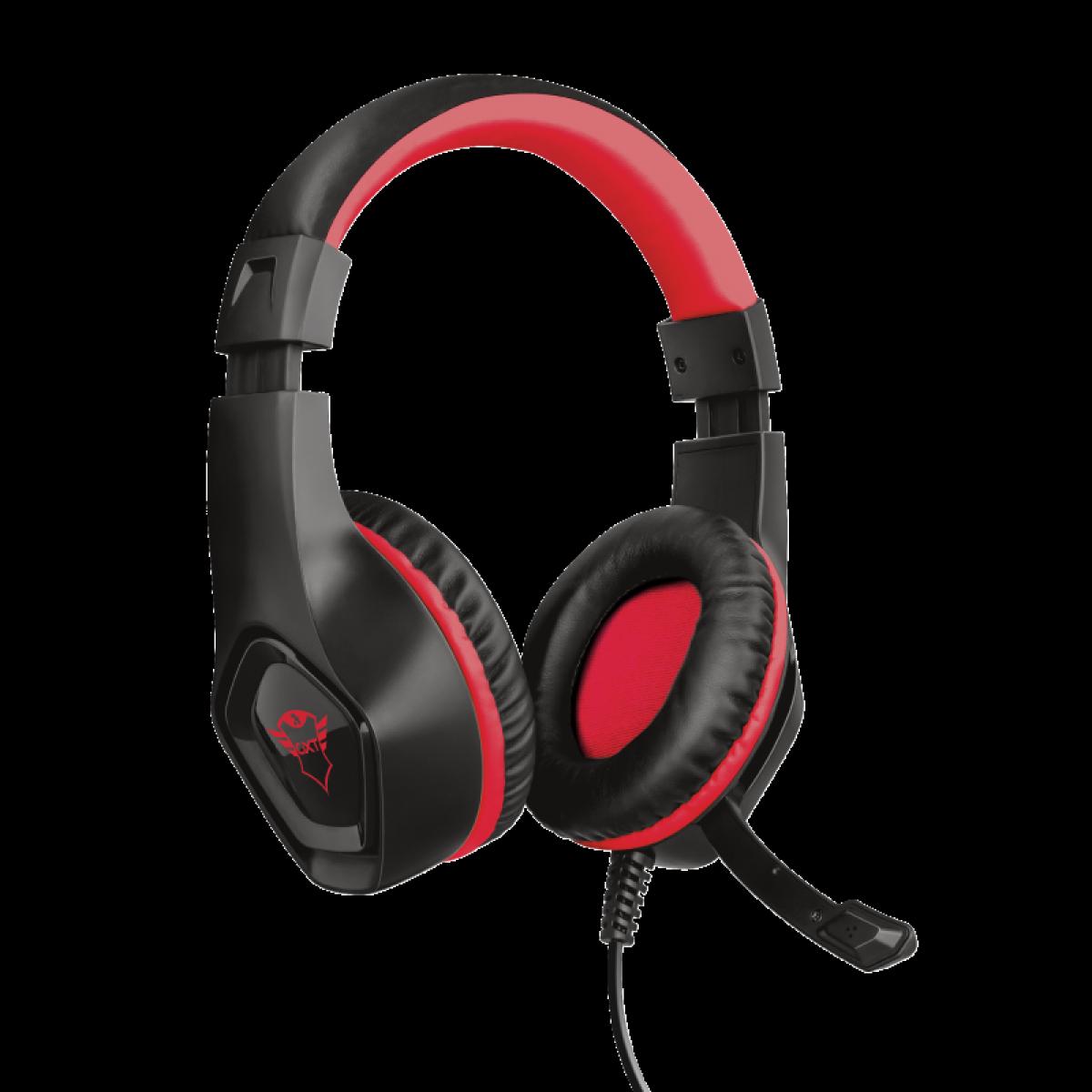 Headset Gamer TrustRana, Nintendo Switch, Vermelho, GXT404R
