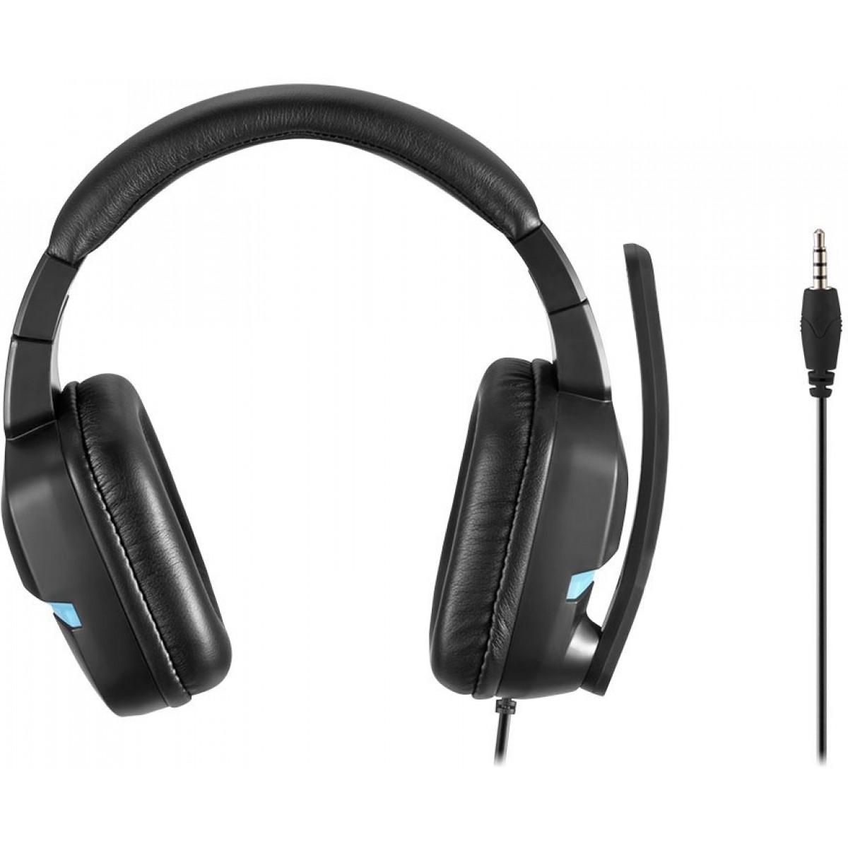 Headset Gamer Warrior Askari Stereo, PS4, Azul, PH292