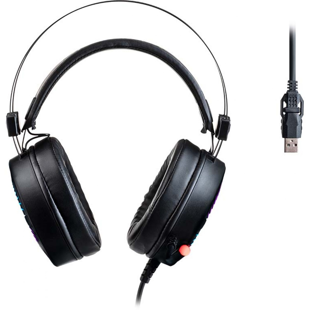 Headset Gamer Warrior Flamma, RGB, Stereo, Black, PH306