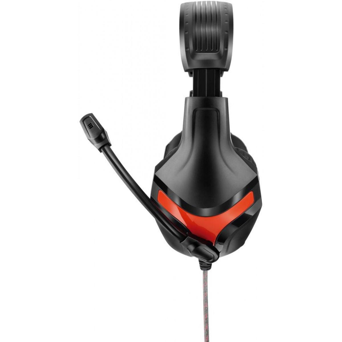Headset Gamer Warrior Harve Stereo, Preto/Vermelho, PH101
