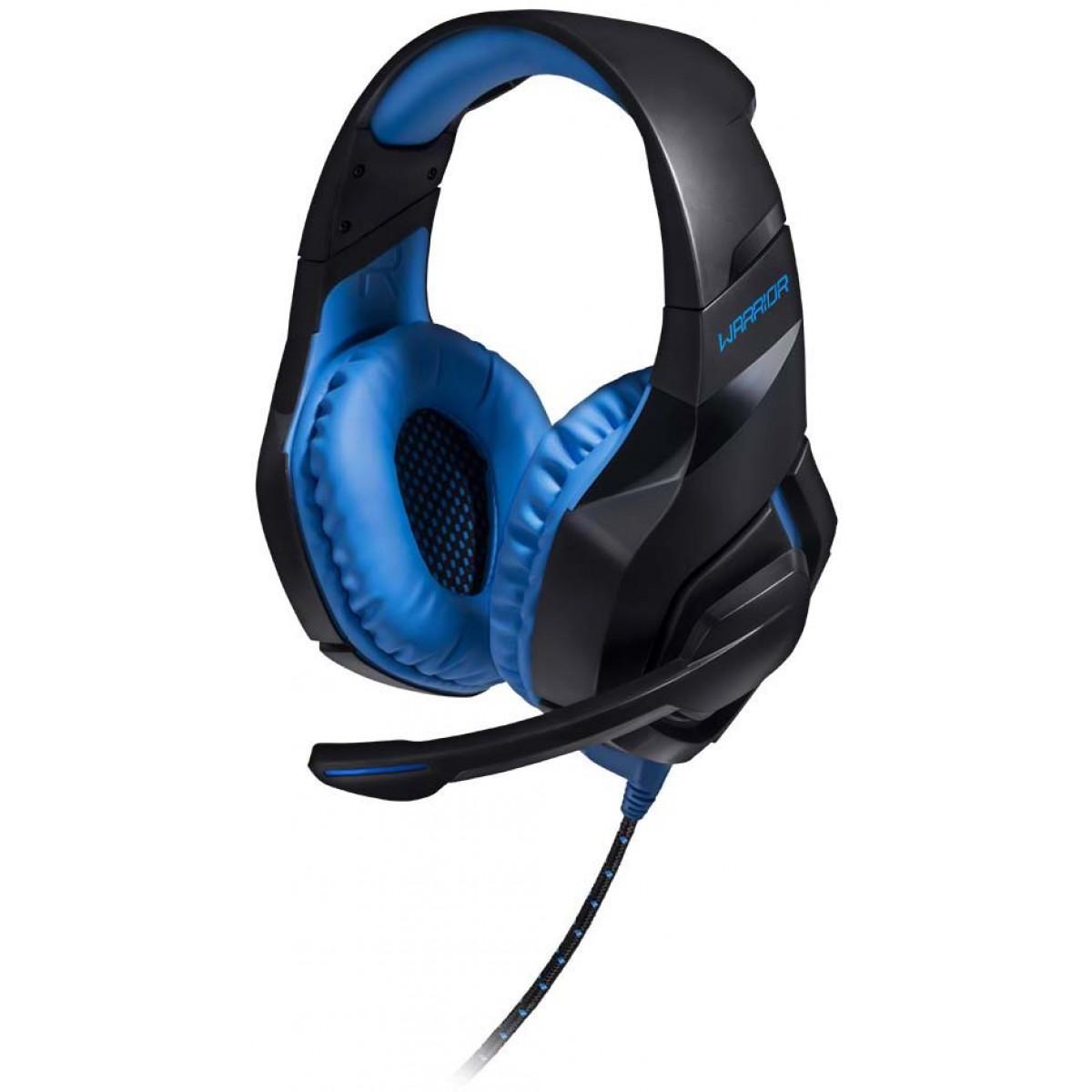 Headset Gamer Warrior Straton Led Azul, Stereo, USB, Preto/Azul, PH244