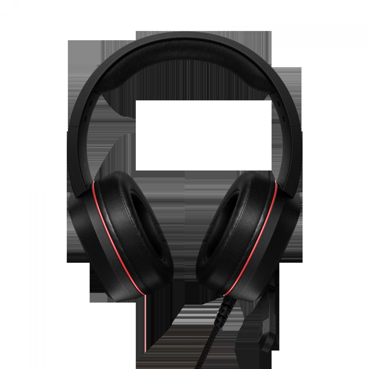 Headset Gamer XPG, Emix H20, 7.1 Virtual Surround, RGB, USB, Black/Red, 75260008