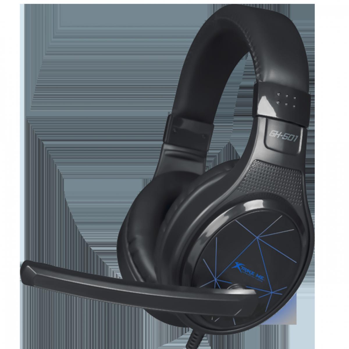 Headset Gamer XTRIKE-ME GH-501, Black/Blue, Backlit, GH501BK