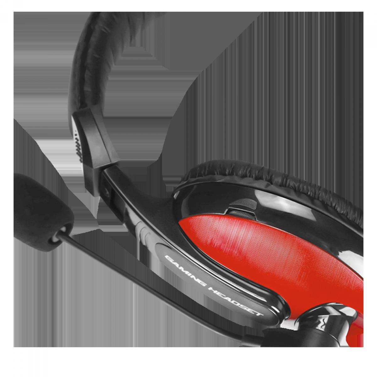Headset Gamer XTRIKE-ME HP-307, Com Fio, Black/Red, HP307BK