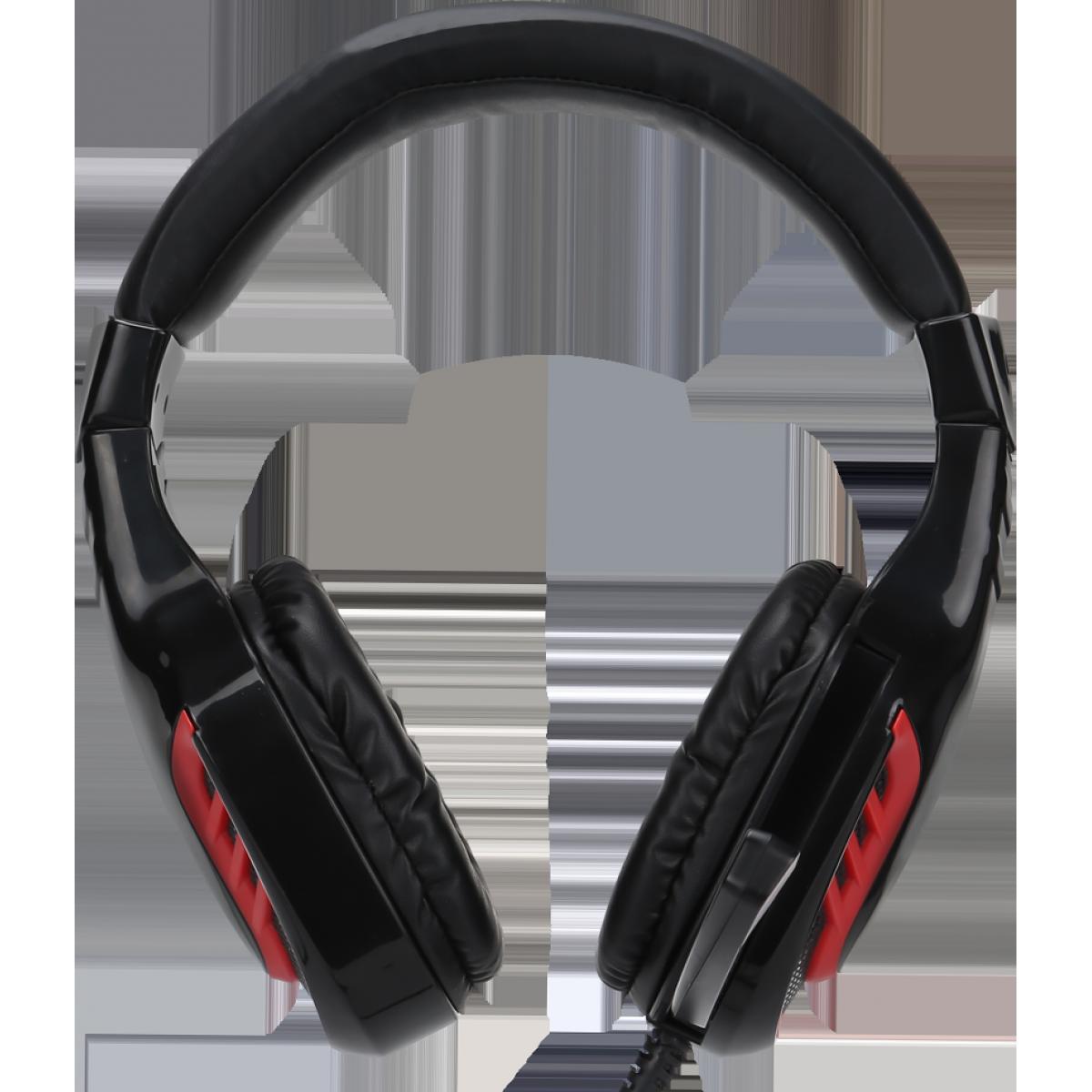 Headset Gamer Xtrike-me HP-310, Microfone, Preto/Vermelho