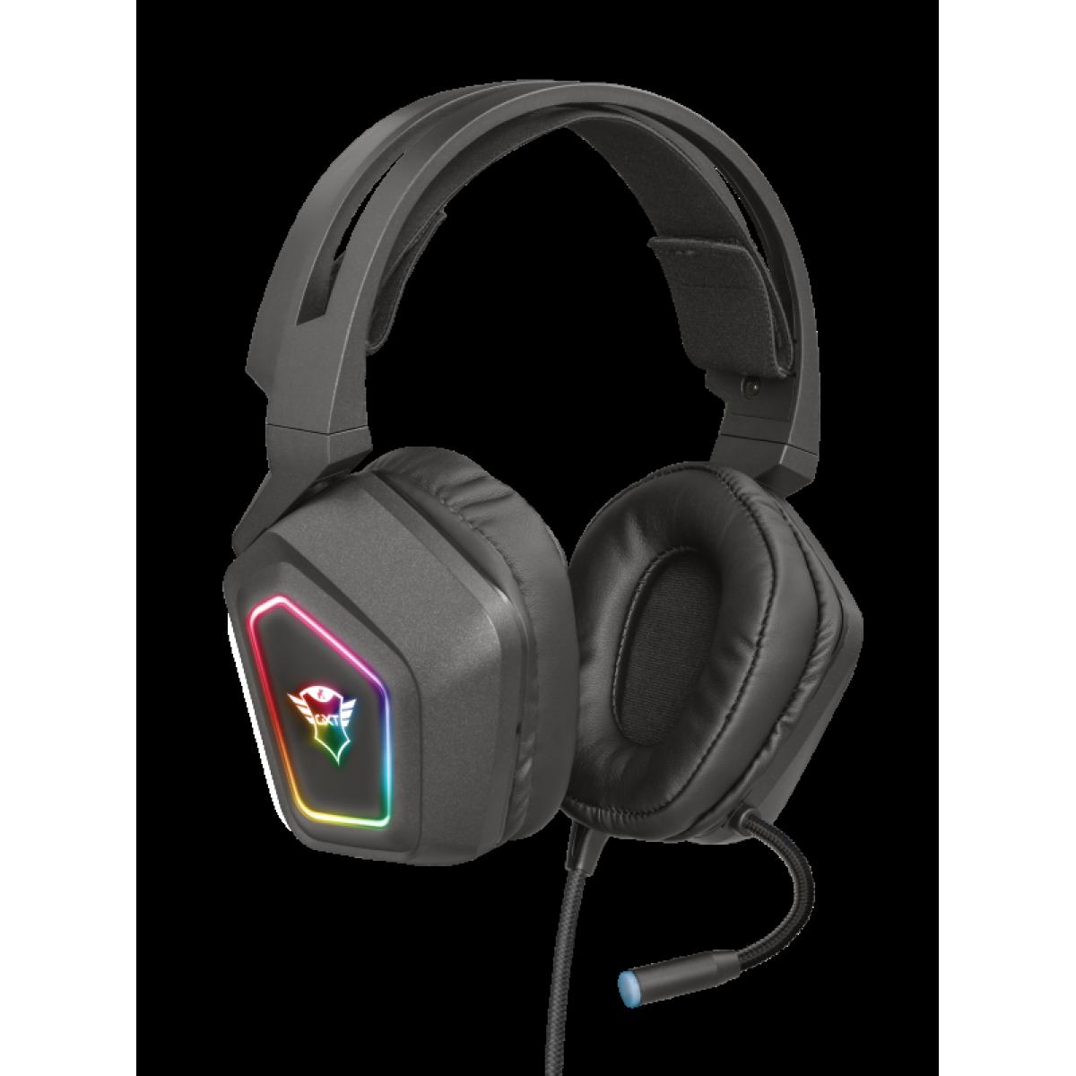 Headset Gamer Trust Blizz 7.1 RGB, PC e Laptop, GXT450