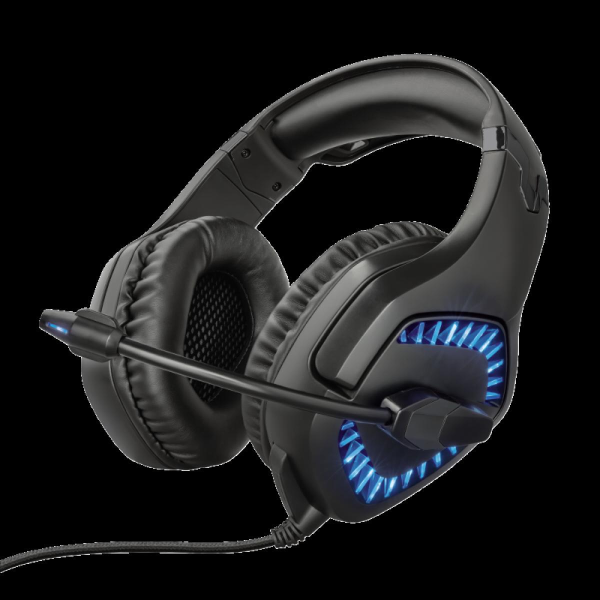 Headset Gamer Trust Varzz Illuminated, PC e Laptop, GXT460