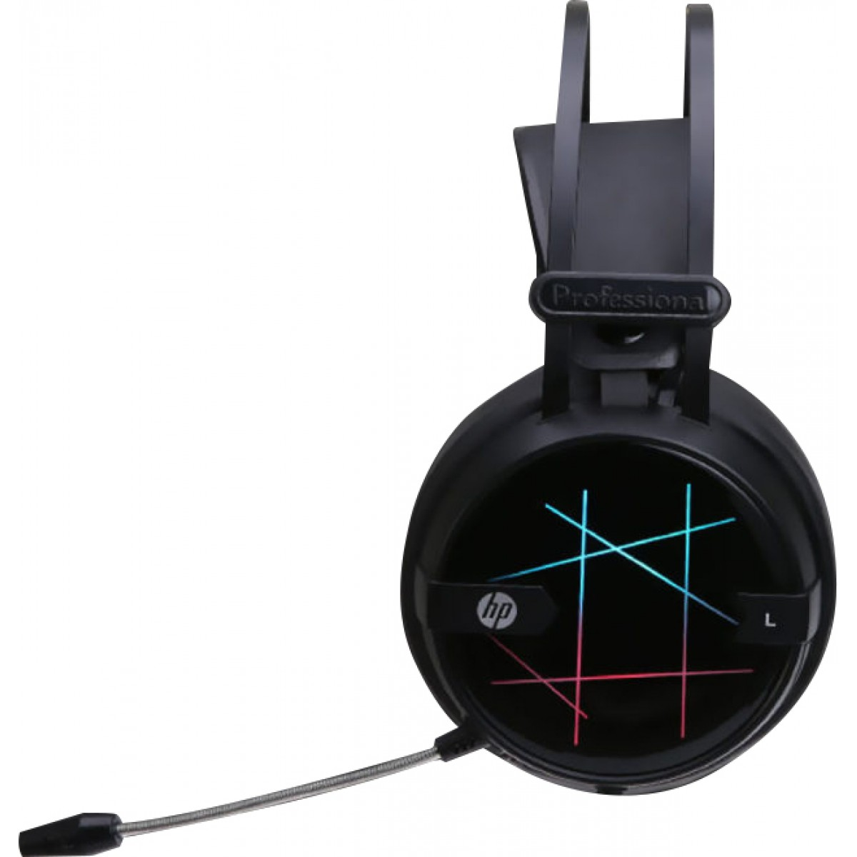 Headset Gamer HP H160G Stereo, USB, LED, Black