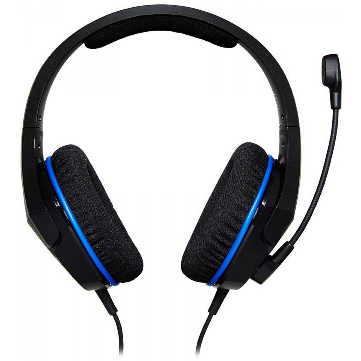 Headset HyperX Cloud Stinger Core, PS4 - Nintendo Switch, Black-Blue, HX-HSCSC-BK