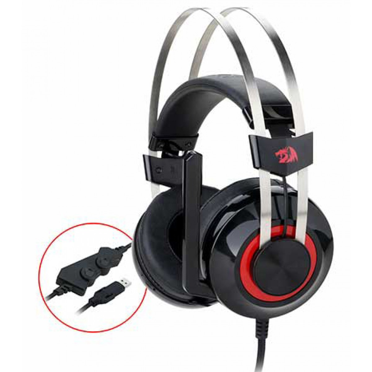 Headset Redragon Talos H601, Surround 7.1, Black