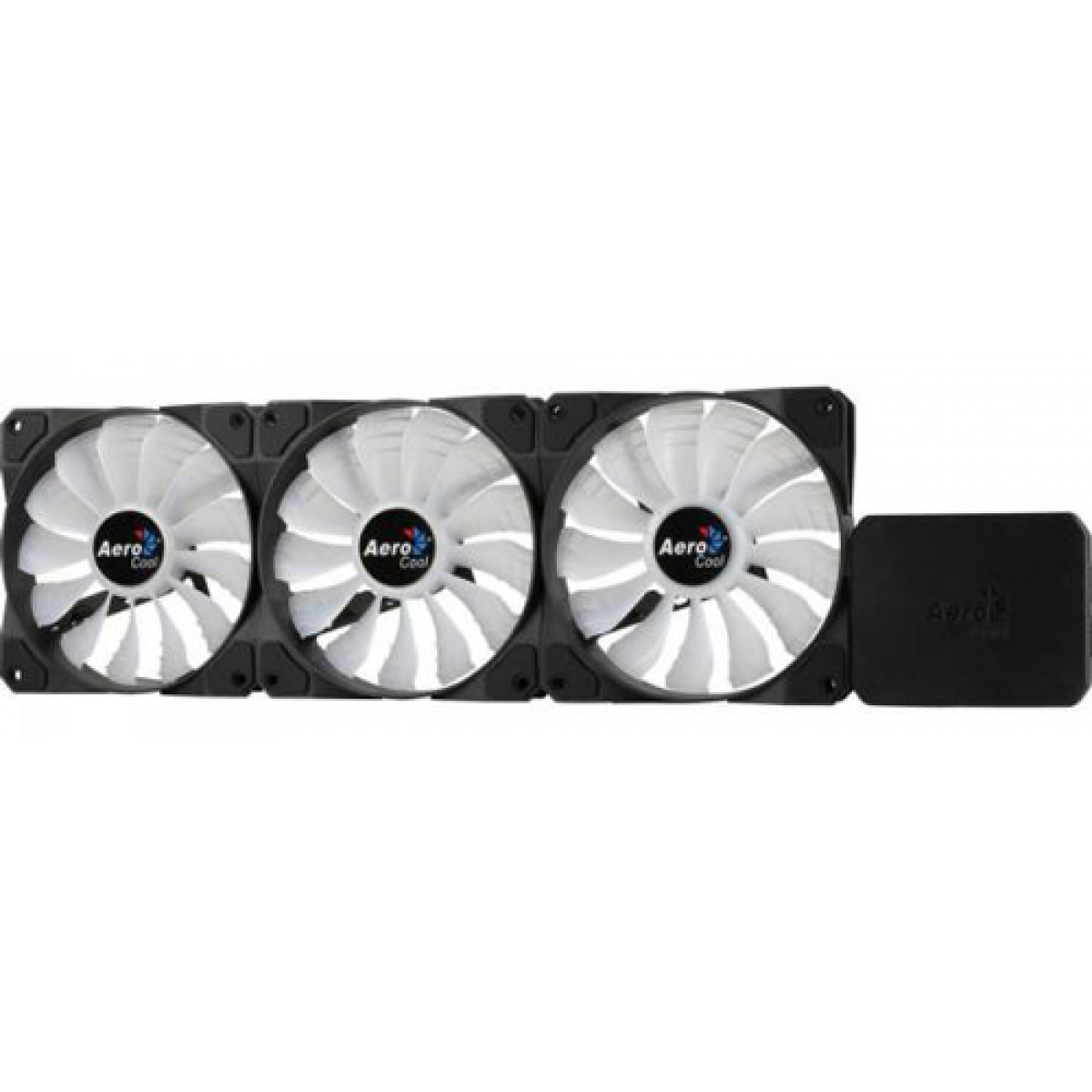 Kit com 3 Fans Aerocool Project 7 120mm Led RGB P7-F12 PRO