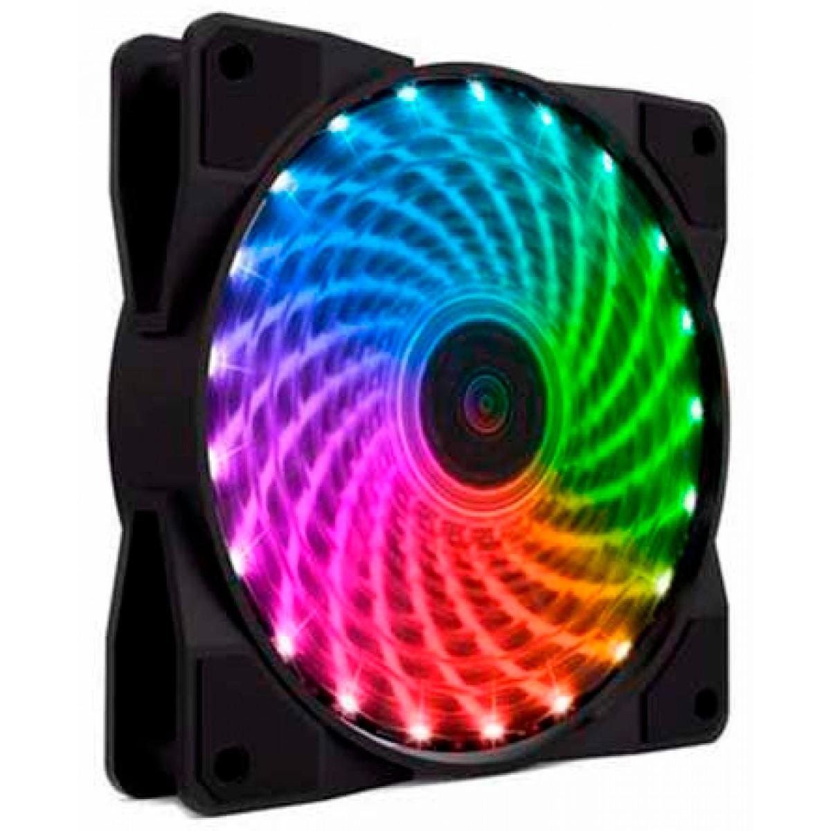 Kit com 4 Fans 120mm Gamemax Rainbow Com Controle RL400