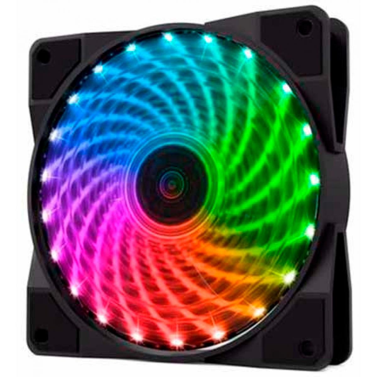 Kit com 4 Fans 120mm Gamemax RGB Com Controle CL400