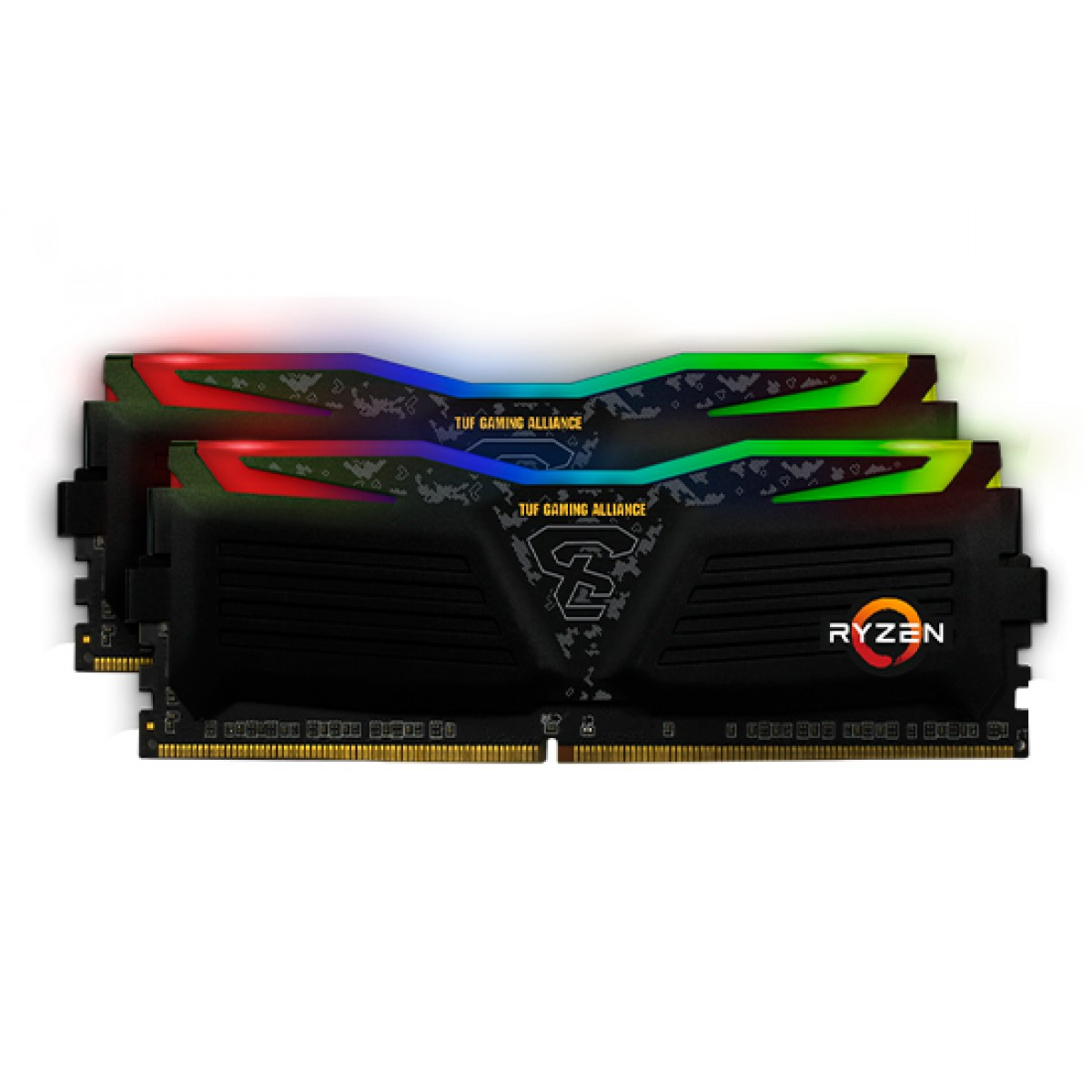 Kit Dual Channel Memória DDR4 Geil Super Luce RGB TUF Gaming Alliance AMD Edition, 16GB (2X8GB) 3000Mhz, GALTS48GB3000C16ASC