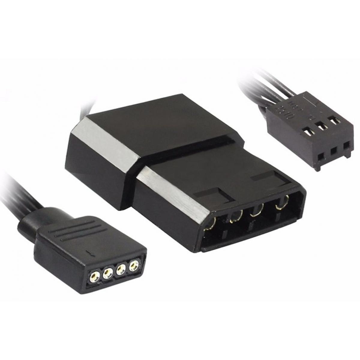 Kit Fan com 3 Unidades Gamemax CL300, RGB 120mm, com Controlador