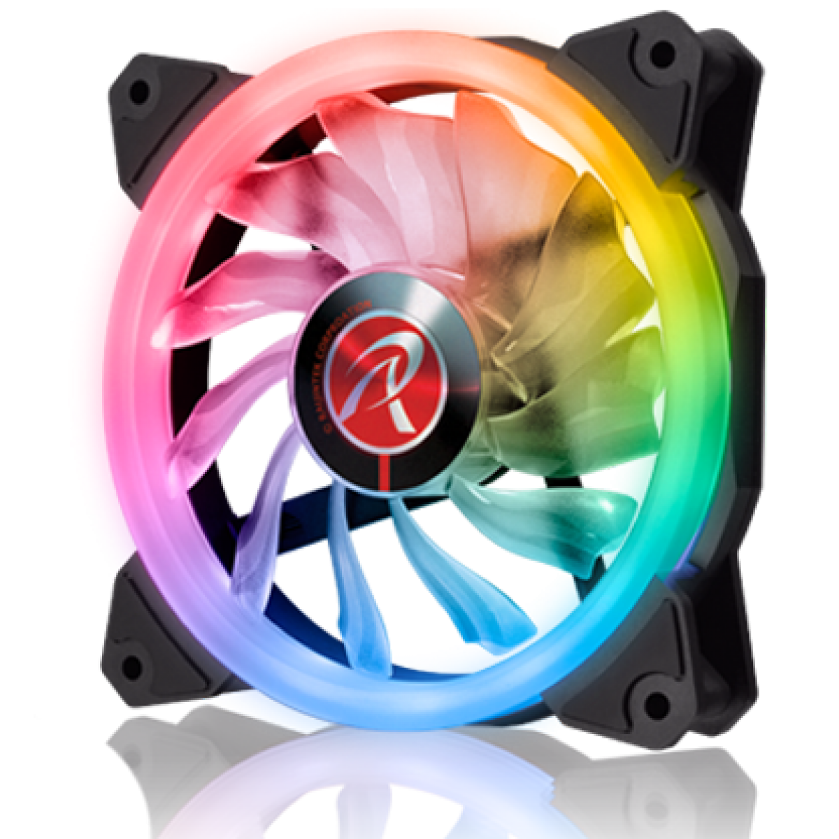 Kit Fan com 2 Unidades Raijintek Iris 12 RBW ADD-2, ARGB, 120mm, 0R40B00111