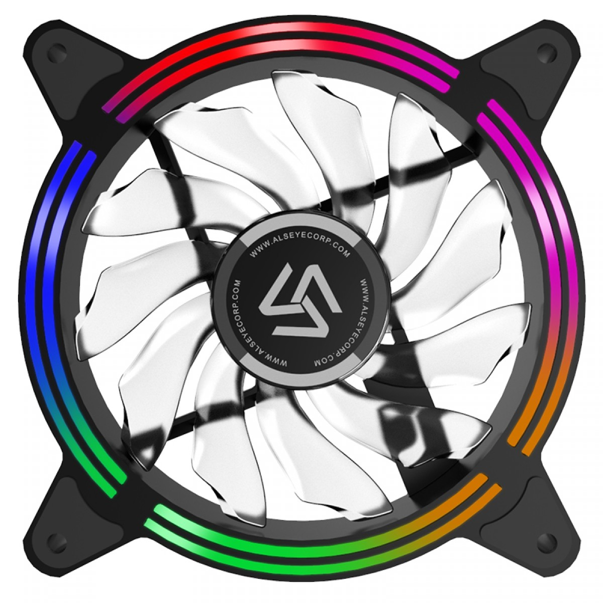 Kit Fan com 3 Unidades Alseye Halo 4.0 Black, Com Controladora, RGB, 120mm