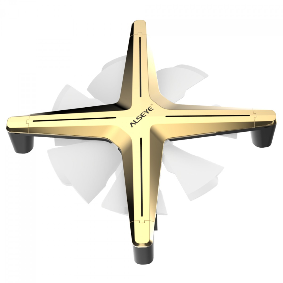 Kit Fan com 3 Unidades Alseye X12, ARGB, Gold, 120mm