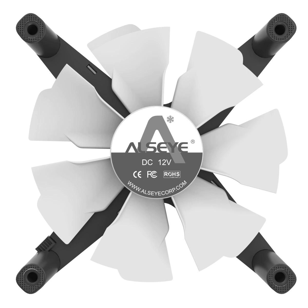 Kit Fan com 3 Unidades Alseye X12, ARGB, Rose Gold, 120mm