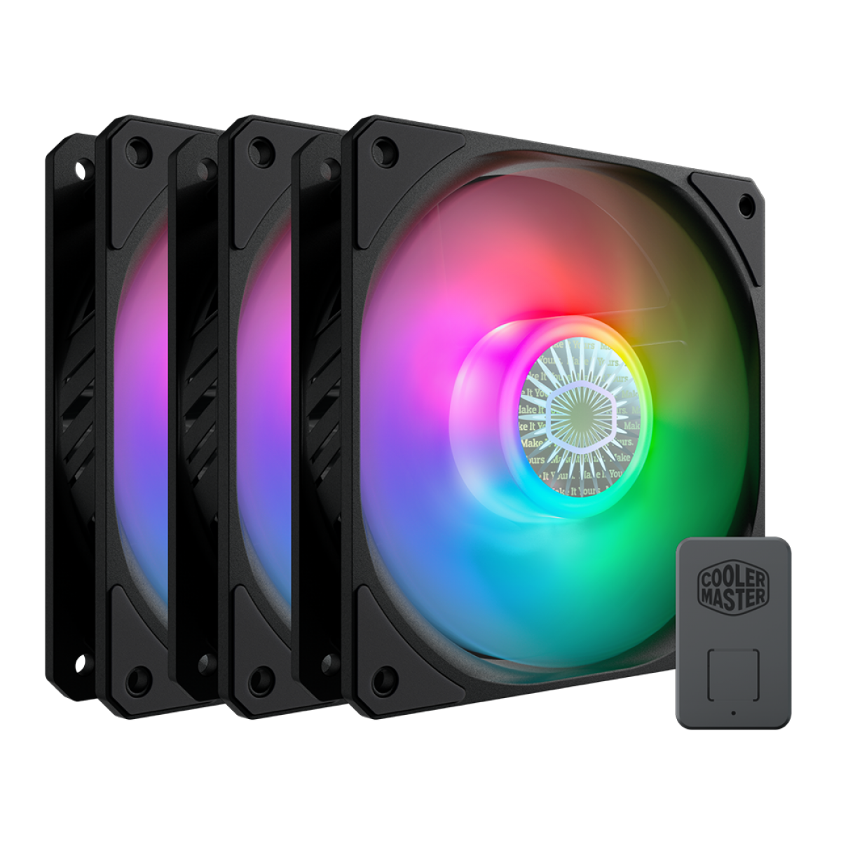 Kit Fan com 3 Unidades, Cooler Master, SickleFlow MasterFan MF120 Halo, RGB, 120mm, 1800RPM, MFX-B2DN-183PA-R1